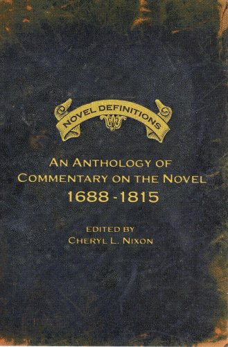 Novel Definitions An Anthology of Commentary on the Novel, 1688-1815  2008 edition cover
