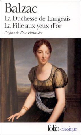 Duchesse de Langeais et la Fille aux Yeux d'Or   1976 edition cover
