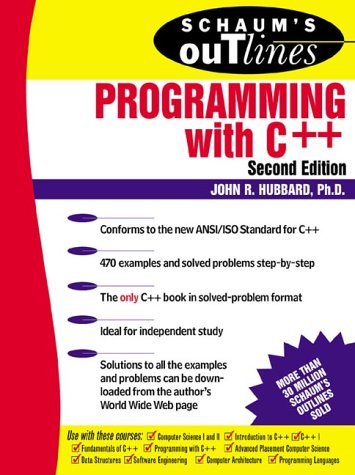 Schaum's Outline of Programming with C++  2nd 2000 (Revised) edition cover