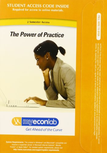 MyEconLab with Pearson eText -- Access Card -- for Economics  3rd 2010 9780132759465 Front Cover