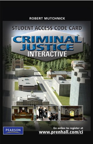 Criminal Justice Interactive   2010 9780135068465 Front Cover