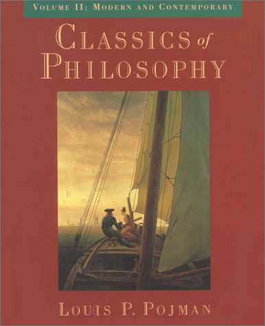 Classics of Philosophy Modern and Contemporary  1998 9780195116465 Front Cover