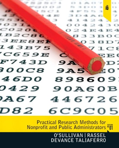 Practical Research Methods for Nonprofit and Public Administrators   2011 edition cover