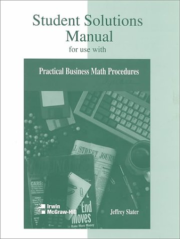 Practical Business Math Procedures 5th 1997 (Student Manual, Study Guide, etc.) 9780256215465 Front Cover