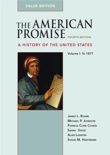 American Promise - To 1877 A History of the United States 4th edition cover