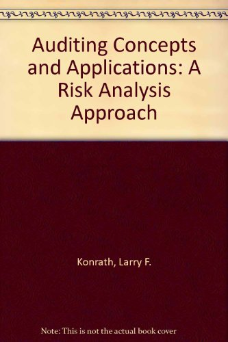 Auditing Concepts and Applications A Risk-Analysis Approach 3rd 1996 9780314063465 Front Cover
