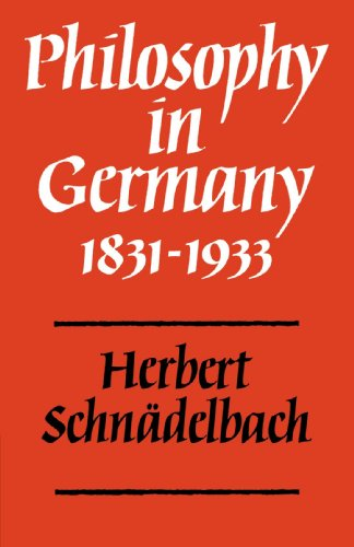 Philosophy in Germany, 1831-1933   1984 9780521296465 Front Cover