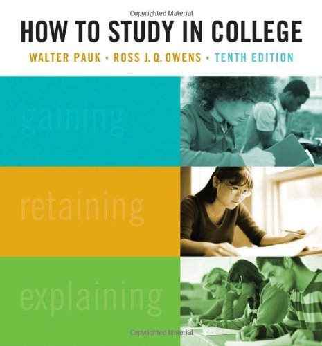 How to Study in College  10th 2011 edition cover