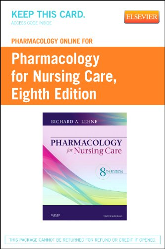 Pharmacology Online for Pharmacology for Nursing Care (User Guide and Access Code)  8th 2012 edition cover