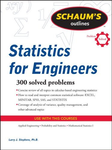 Schaum's Outline of Statistics for Engineers   2011 9780071736466 Front Cover