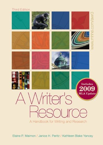 Writer's Resource A Handbook for Writing and Research 3rd 2010 edition cover