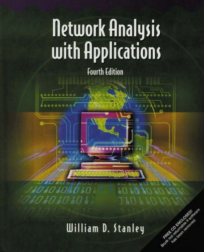 Network Analysis with Applications  4th 2003 edition cover