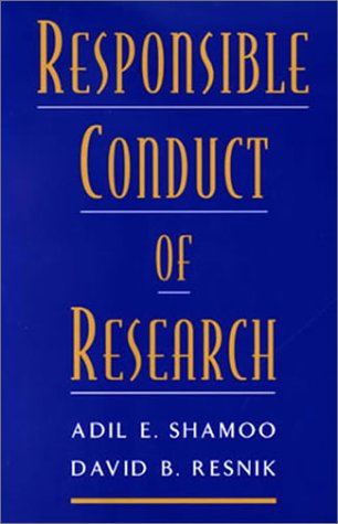 Responsible Conduct of Research  2nd 2002 edition cover
