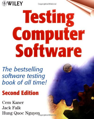 Testing Computer Software  2nd 1999 (Revised) edition cover