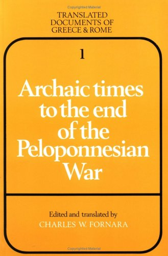 Archaic Times to the End of the Peloponnesian War  2nd 1983 (Revised) edition cover