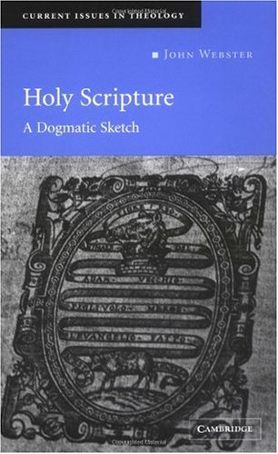 Holy Scripture A Dogmatic Sketch  2003 edition cover