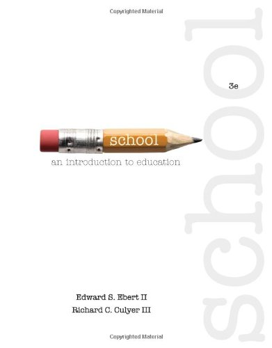 School An Introduction to Education 3rd 2014 edition cover