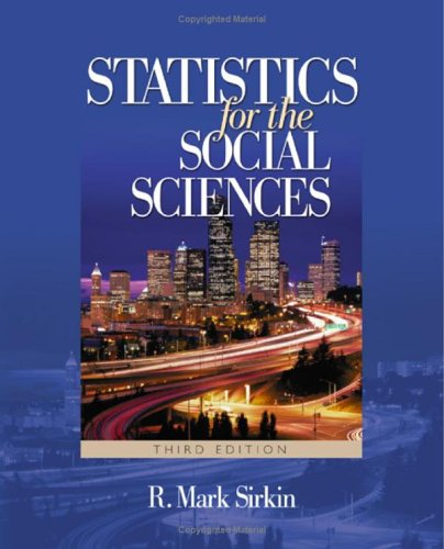 Statistics for the Social Sciences  3rd 2006 (Revised) edition cover