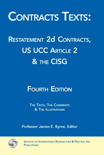 Contracts Texts: Restatement 2d Contracts, UCC Article 2 & the CISG (Paperback) 4th edition cover