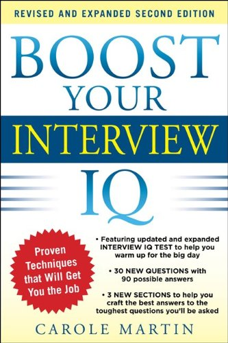 Boost Your Interview IQ  2nd 2012 edition cover