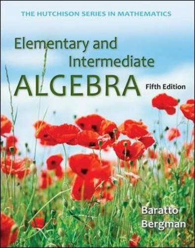 Elementary and Intermediate Algebra  5th 2014 edition cover