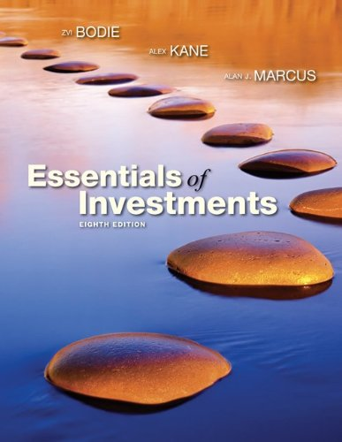 Loose-Leaf Essentials of Investments  8th 2010 edition cover