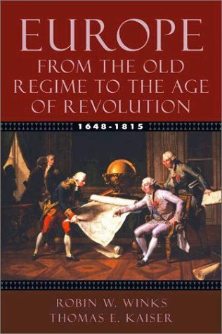 Europe, 1648-1815 From the Old Regime to the Age of Revolution  2004 edition cover