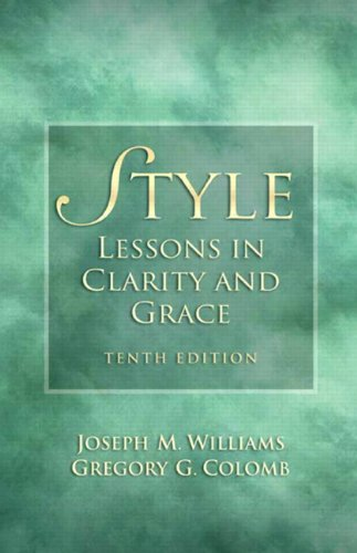 Style Lessons in Clarity and Grace 10th 2011 edition cover