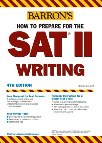 How to Prepare for the SAT II Writing  4th 2004 edition cover