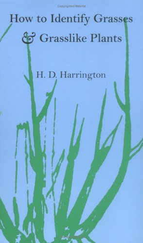How to Identify Grasses And Grasslike Plants Reprint edition cover