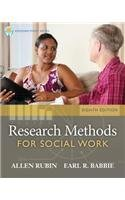 Research Methods for Social Work  8th 2014 9781285173467 Front Cover