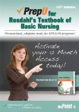 PrepU for Rosdahl's Textbook of Basic Nursing  10th 2013 9781451170467 Front Cover