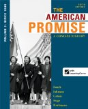 American Promise A Concise History - From 1865 5th 2014 9781457631467 Front Cover