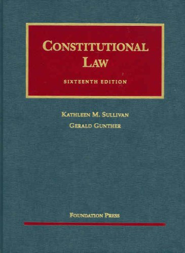 Constitutional Law  16th 2007 (Revised) edition cover