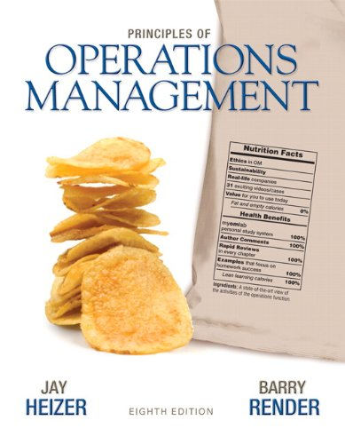 Principles of Operations Management  8th 2011 edition cover