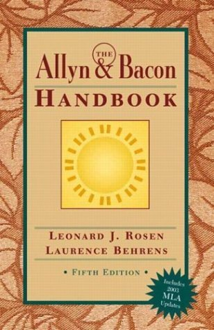 Allyn and Bacon Handbook (MLA Update)  5th 2003 (Revised) edition cover