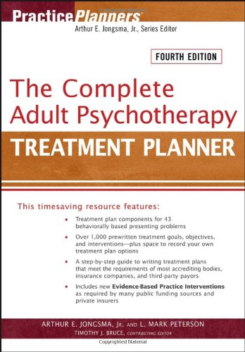 Complete Adult Psychotherapy Treatment Planner  4th 2006 (Revised) edition cover