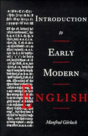 Introduction to Early Modern English   1991 (Revised) 9780521310468 Front Cover