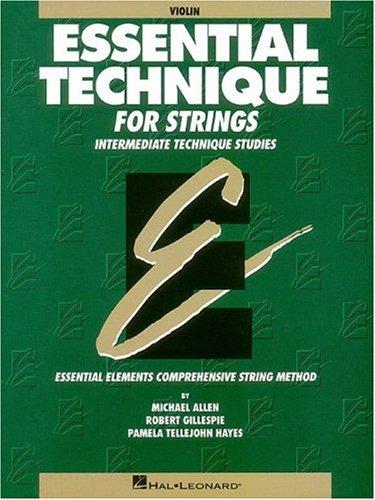 Essential Technique for Strings Violin Intermediate Technique Studies N/A edition cover
