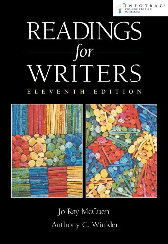 Readings for Writers  11th 2004 edition cover