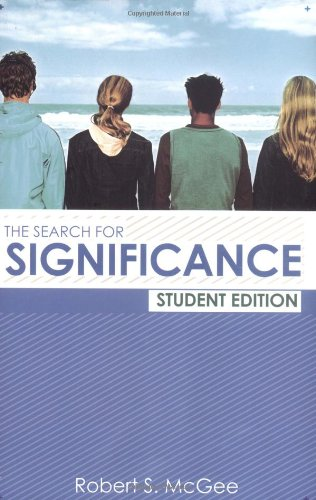 Search for Significance   2003 (Student Manual, Study Guide, etc.) edition cover