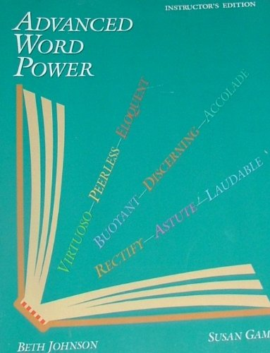 Advanced Word Power   1999 edition cover