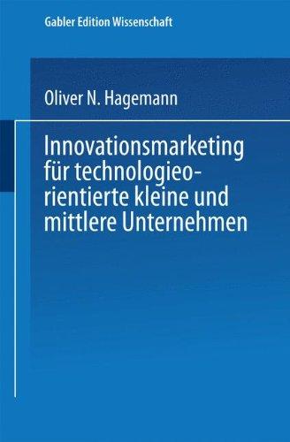 Innovationsmarketing Fur Technologieorientierte Kleine und Mittlere Unternehmen   1999 9783824469468 Front Cover