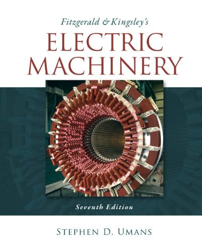 Fitzgerald and Kingsley's Electric Machinery  7th 2014 edition cover