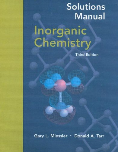 Solutions Manual Inorganic Chemistry  3rd 2004 edition cover