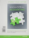 Managerial Accounting: Student Value Edition  2014 9780133428469 Front Cover