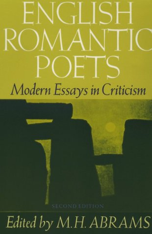 English Romantic Poets Modern Essays in Criticism 2nd 1975 (Revised) 9780195019469 Front Cover