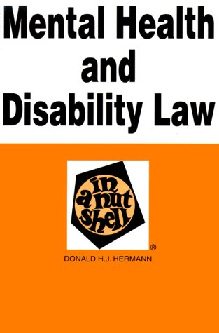 Mental Health and Disability in a Nutshell   1997 9780314065469 Front Cover