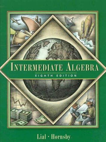 Intermediate Algebra  8th 2000 edition cover