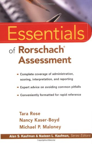 Essentials of Rorschach Assessment   2000 edition cover